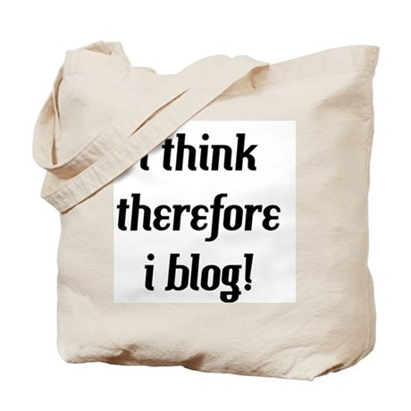 i think therefore i blog Tote Bag