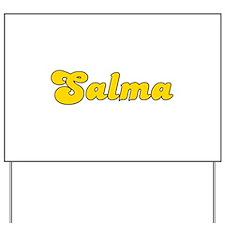 Retro Salma (Gold) Yard Sign