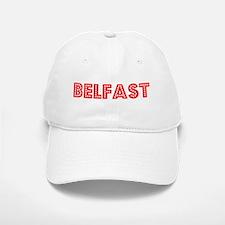 Retro Belfast (Red) Baseball Baseball Cap
