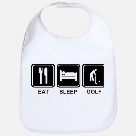 EAT SLEEP GOLF Bib
