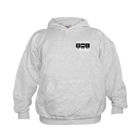 EAT SLEEP GOLF Kids Sweatshirt