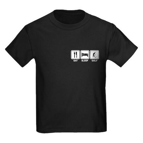 EAT SLEEP GOLF Kids Dark T-Shirt