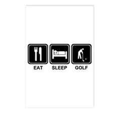 EAT SLEEP GOLF Postcards (Package of 8)