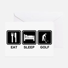 EAT SLEEP GOLF Greeting Card