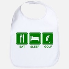 EAT SLEEP GOLF (grn) Bib