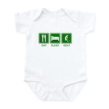 EAT SLEEP GOLF (grn) Infant Bodysuit