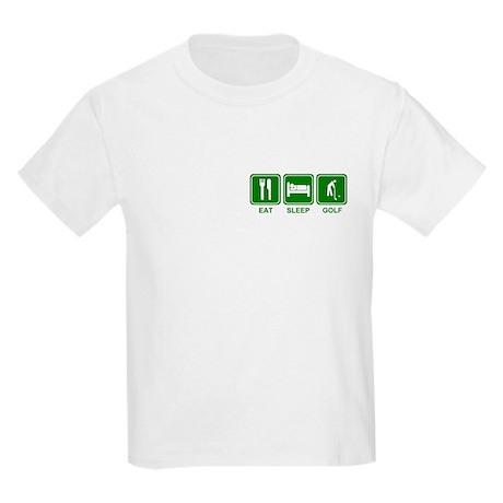 EAT SLEEP GOLF (grn) Kids Light T-Shirt
