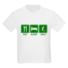 EAT SLEEP GOLF (grn) T-Shirt