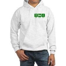 EAT SLEEP GOLF (grn) Jumper Hoody