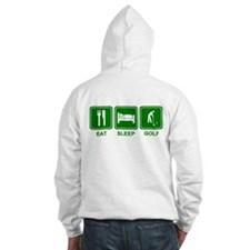 EAT SLEEP GOLF (grn) Hoodie