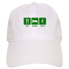 EAT SLEEP GOLF (grn) Baseball Cap