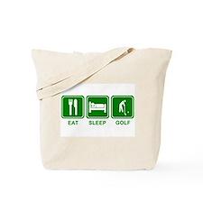 EAT SLEEP GOLF (grn) Tote Bag