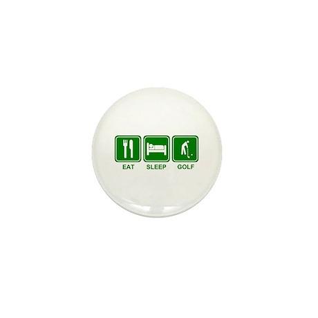 EAT SLEEP GOLF (grn) Mini Button (10 pack)