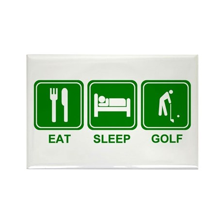 EAT SLEEP GOLF (grn) Rectangle Magnet