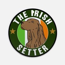 The Irish Setter Ornament (Round)