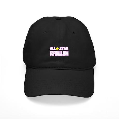 """All Star Softball Mom"" Black Cap"