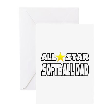 """All Star Softball Dad"" Greeting Cards (Pk of 10)"