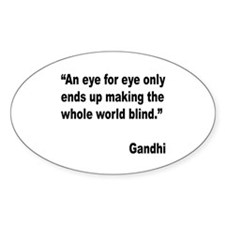 Gandhi Quote on Revenge Oval Decal