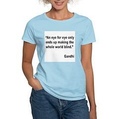 Gandhi Quote on Revenge (Front) T-Shirt