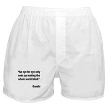 Gandhi Quote on Revenge Boxer Shorts