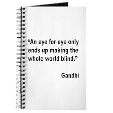 Gandhi Quote on Revenge Journal