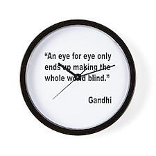 Gandhi Quote on Revenge Wall Clock