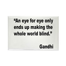Gandhi Quote on Revenge Rectangle Magnet (10 pack)