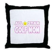 """All Star Golf Mom"" Throw Pillow"