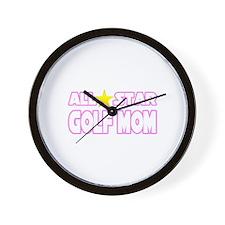 """All Star Golf Mom"" Wall Clock"