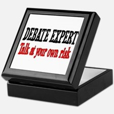 Debate Expert talk at your risk Keepsake Box