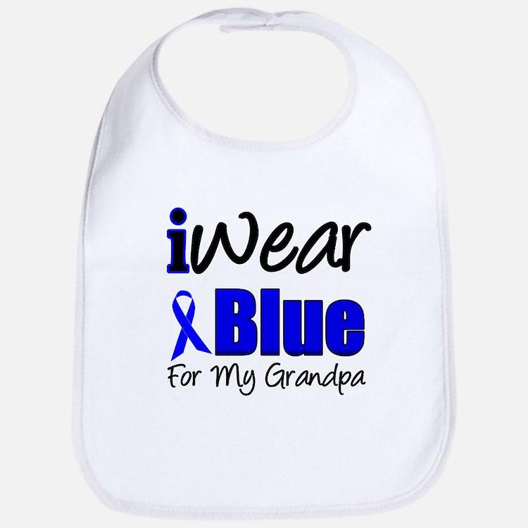 I Wear Blue For My Grandpa Bib