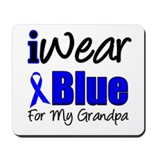 I Wear Blue For My Grandpa Mousepad