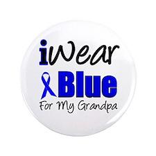 """I Wear Blue For My Grandpa 3.5"""" Button"""