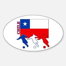 Chile Soccer Oval Sticker (10 pk)