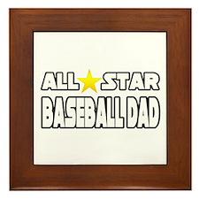 """""""All Star Baseball Dad"""" Framed Tile"""