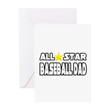 """All Star Baseball Dad"" Greeting Card"