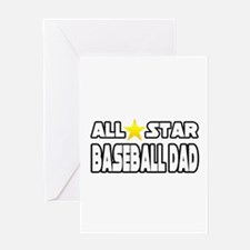 """All Star Baseball Dad"" Greeting Card"