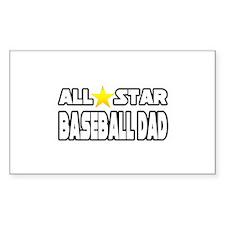 """All Star Baseball Dad"" Rectangle Sticker 50 pk)"