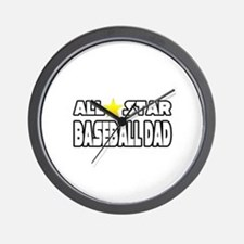 """All Star Baseball Dad"" Wall Clock"