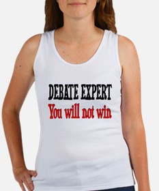 Debate Expert will not win Women's Tank Top