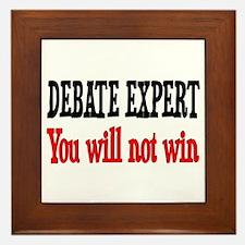 Debate Expert will not win Framed Tile
