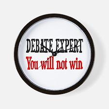 Debate Expert will not win Wall Clock