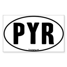 Euro Oval Pyr Rectangle Decal