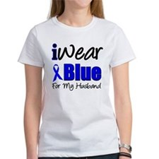 I Wear Blue For My Husband Tee