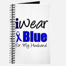 I Wear Blue For My Husband Journal