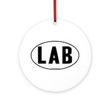 Euro Lab Oval Ornament (Round)