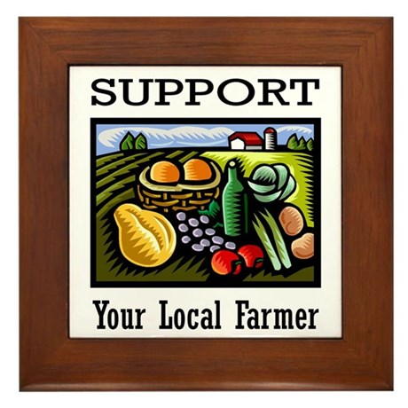 Support Your Local Farmer Framed Tile