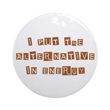 Alternative Energy Ornament (Round)
