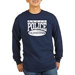 Proud Police Husband Long Sleeve Dark T-Shirt