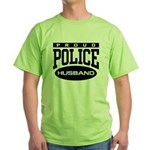 Proud Police Husband Green T-Shirt